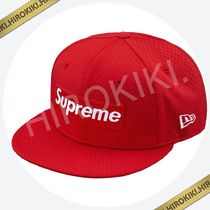 【 8 】18ss Supreme Mesh Box Logo New Era Cap ニューエラ Red