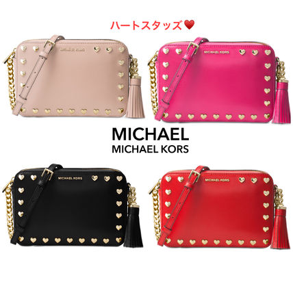 Michael Kors☆SALE☆ハートスタッズ☆Ginny Medium camera bag