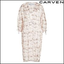 CARVEN(カルヴェン)★Printed Silk Tunic Dress