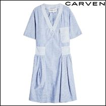 CARVEN(カルヴェン)★Striped Cotton Tunic Dress