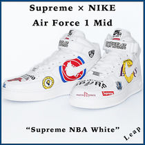 "【Nike】激レア Supreme コラボ Air Force 1 MID ""NBA White"""