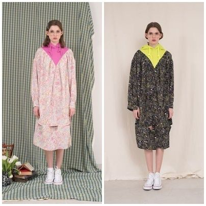ANOTHER A(アナザーエー)のSuburbia hoodie slit dress 全2色