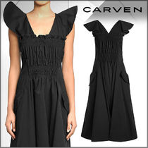 CARVEN(カルヴェン)★Ruched Front Cotton Dress