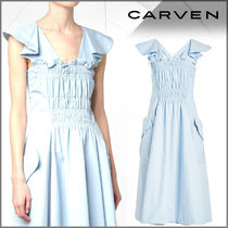 CARVEN(カルヴェン)★Ruched Cotton Dress