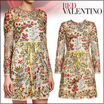 RED VALENTINO★Embroidered Tulle Dress