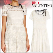 RED VALENTINO(レッドヴァレンティノ)★Lace Dress with Pleats