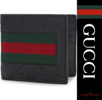 【国内発送】GUCCI 財布 Logo leather billfold wallet