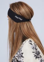 NEW◆MiuMiu Logo Hair Band◆