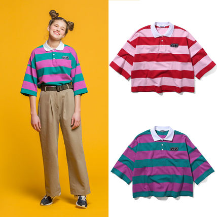 ポロシャツ 【ESSENSI STUDIO】STRIPE RUGBY Tシャツ (2color) - UNISEX