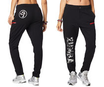 新作♪Zumbaズンバ Rockin' Zumba Sweatpants-Bold Black