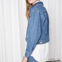 """& Other Stories""Cropped Denim Jacket Blue"