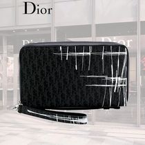 【SALE】Dior/defaced ロゴプリントウォレット グレー