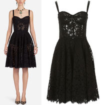 18SS DG1489 CORD LACE FLARE DRESS