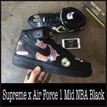 ★【NIKE】追跡発 コラボ Supreme x Air Force 1 Mid NBA Black