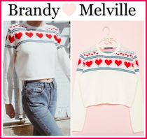 ☆新作*日本未入荷☆Brandy Melville☆FRANCESCA HEARTS SWEATER