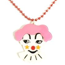 Anna Lou Of LONDON(アナルーオブロンドン) ネックレス・ペンダント 即納&国内発【AnnaLou OF LONDON】Pink & white clown necklace