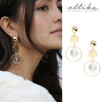 Lasting Memory Earrings in Clear and Gold ゴールド ピアス