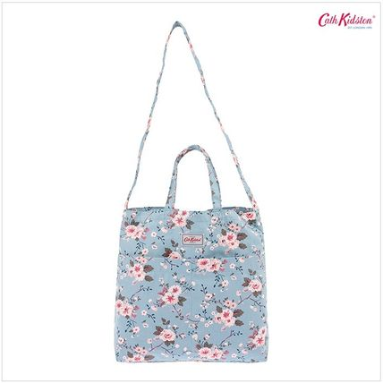 Cath Kidston ショルダーバッグ・ポシェット 韓国限定☆Cath Kidston DOUBLE HANDLE COTTON BAG SLATE BLUE