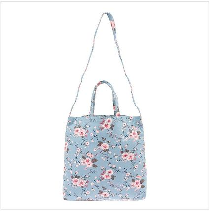 Cath Kidston ショルダーバッグ・ポシェット 韓国限定☆Cath Kidston DOUBLE HANDLE COTTON BAG SLATE BLUE(2)