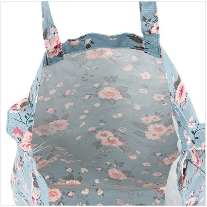 Cath Kidston ショルダーバッグ・ポシェット 韓国限定☆Cath Kidston DOUBLE HANDLE COTTON BAG SLATE BLUE(3)