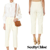 追跡ありで安心☆See by Chloe WHITE COTTON PANTS