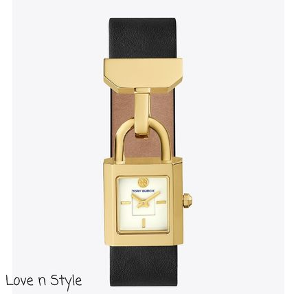 【Tory Burch】国内完売カラーSURREY WATCH, BLACK LEATHER/GOLD