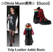 ☆Olivia Munn愛用☆【Gucci】Trip Leather Ankle Boots 関税込