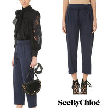 追跡ありで安心☆See by Chloe BLUE COTTON PANTS