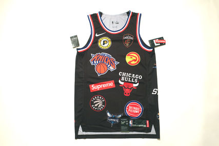 入手困難!Supreme Nike NBA Teams Authentic Jersey黒ジャージ