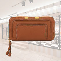 SALE CHLOE MARCIE LONG ZIPPED WALLET IN GRAINED CALFSKIN