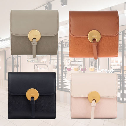 CHLOE INDY SQUARE ZIPPED CALFSKIN FLAP WALLET