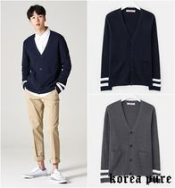 【8SECONDS】Contrasted Stripe Sleeve Cardigan  - 4colors
