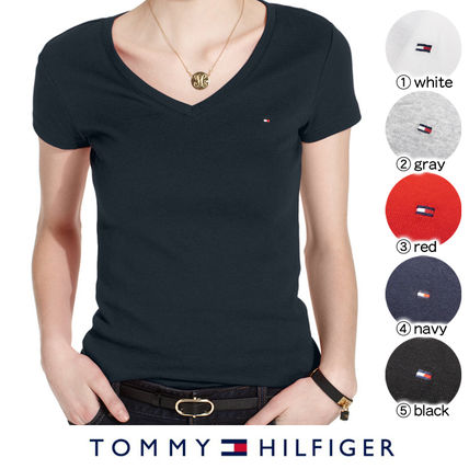 Tommy Hilfiger Tシャツ・カットソー 国内在庫【1-3日】Tommy Hilfiger トミー ロゴ Vネック Tシャツ(2)