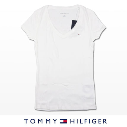 Tommy Hilfiger Tシャツ・カットソー 国内在庫【1-3日】Tommy Hilfiger トミー ロゴ Vネック Tシャツ(3)