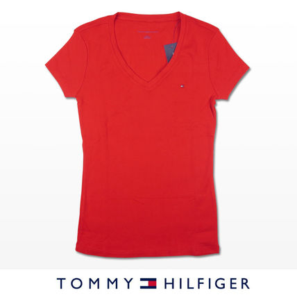 Tommy Hilfiger Tシャツ・カットソー 国内在庫【1-3日】Tommy Hilfiger トミー ロゴ Vネック Tシャツ(9)