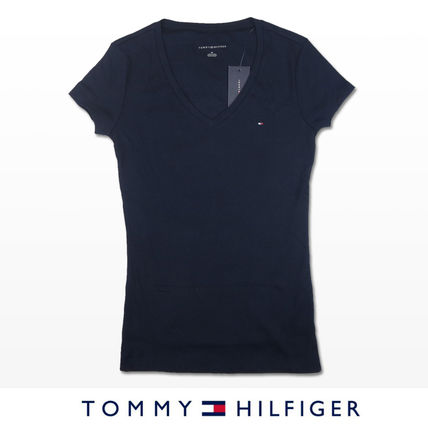 Tommy Hilfiger Tシャツ・カットソー 国内在庫【1-3日】Tommy Hilfiger トミー ロゴ Vネック Tシャツ(12)