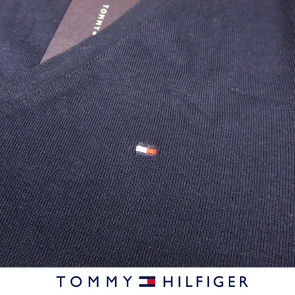 Tommy Hilfiger Tシャツ・カットソー 国内在庫【1-3日】Tommy Hilfiger トミー ロゴ Vネック Tシャツ(13)