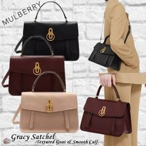 Mulberry☆Gracy Satchel-Textured Goat & Smooth Calf-