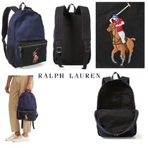POLO RALPH LAUREN ☆Canvas&レザー 刺繍BigポニーBackpack