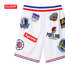 WEEK3★SS18 SupremexNBA teams Authentic Short-White/XLサイズ