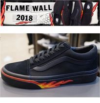 お早めに!VANS☆OLD SKOOL FLAME WALL ブラック VN0A38G1Q8Q