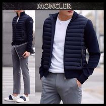 【MONCLER】18SS 異素材MIX ジップアップブルゾン NAVY/EMS直送