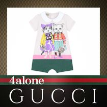 GUCCI☆BABY☆18SS☆ヒグチユウココラボ☆キャットロンパース