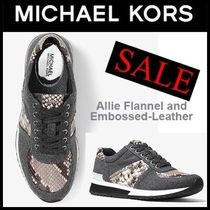SALE【MK】Allie Flannel and Embossed-Leatherスニーカー