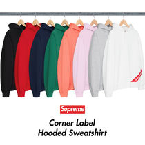送料込 Supreme Corner Logo Hooded Sweatshirt