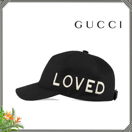∴Gucci∴ Embroidered canvas baseball hat