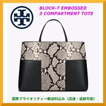 【SALE】Tory Burch Block-T Embossed 3Compartment Tote