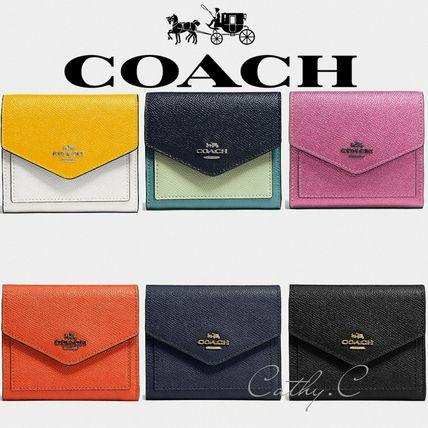 Coach*新作*三つ折り財布*レザー*Small Wallet In Colorblock