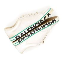 BALENCIAGA Vintage-effect Leather Match Sneakers