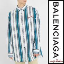 【国内発送】Balenciaga シャツ Oversized striped cotton shirt